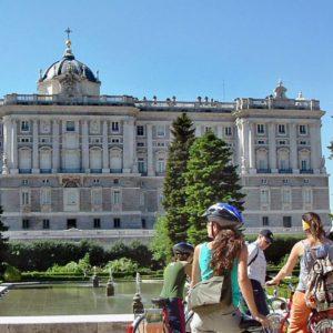 Guided Madrid City Bike Tour Royal Palace